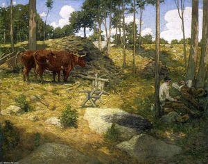Julian Alden Weir - Midday Rest in New England