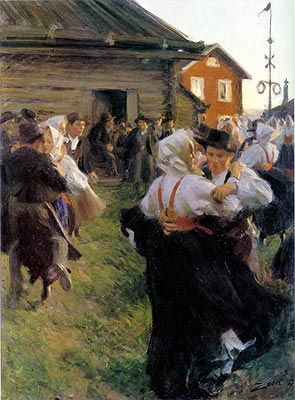 famous painting Midsummer Dance of Anders Leonard Zorn