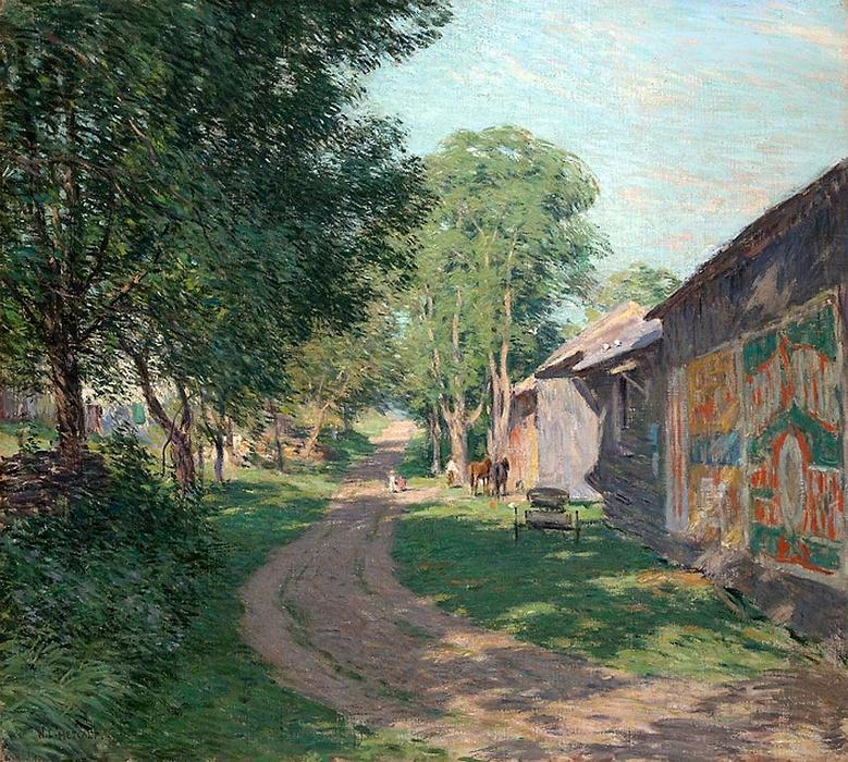 famous painting Midsummer Shadows of Willard Leroy Metcalf