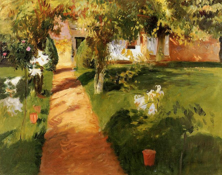 famous painting Millet's Garden (also known as The Millet House and Garden) of John Singer Sargent
