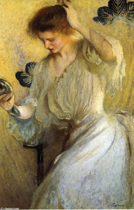 famous painting The Mirror (also known as Girl with a Mirror) of Edmund Charles Tarbell