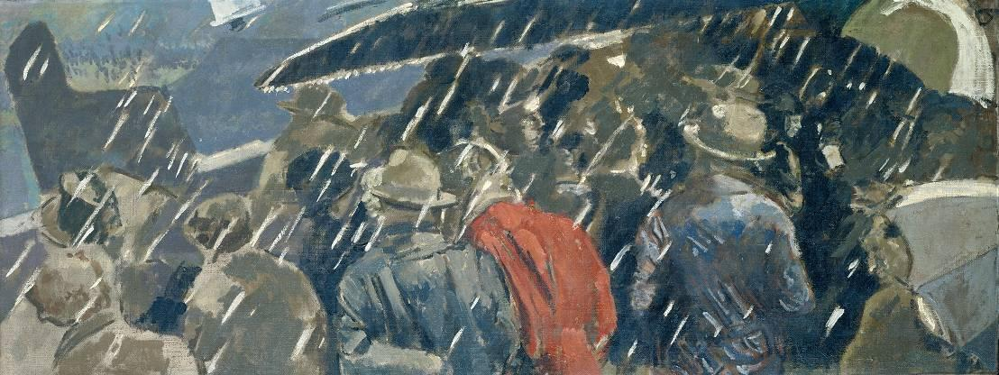 famous painting Miss Earhart's Arrival of Walter Richard Sickert