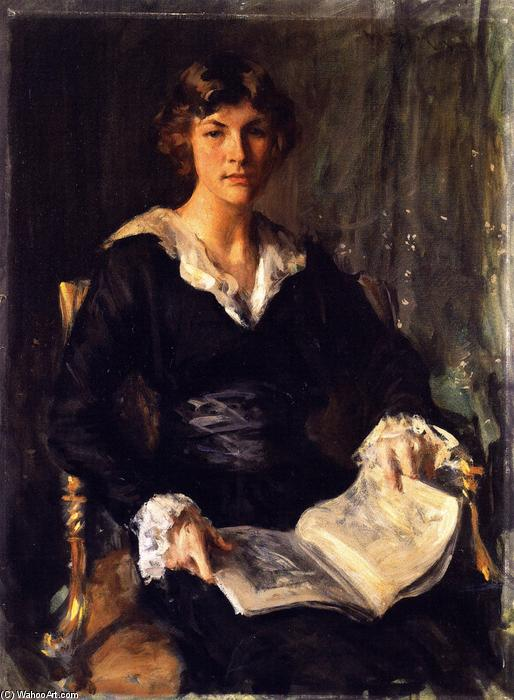 famous painting Miss Savageau of William Merritt Chase