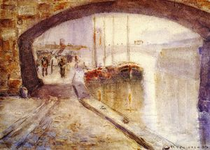 Frederick Carl Frieseke - Misty Morning on the Seine