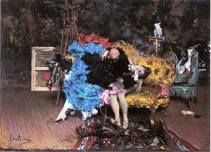 Giovanni Boldini - The Model and the Mannequin (also known as Berthe in the Studio)