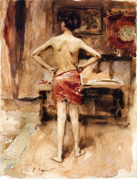 famous painting The Model: Interior with Standing Figure of John Singer Sargent