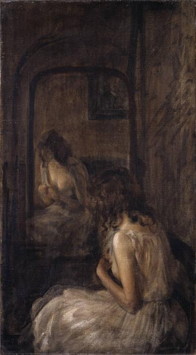 famous painting Model Seated Before a Mirror of Philip Wilson Steer