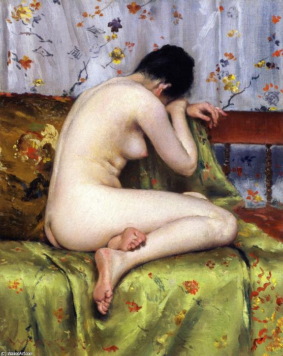 famous painting A Modern Magdalen (also known as Nude inan Interior) of William Merritt Chase