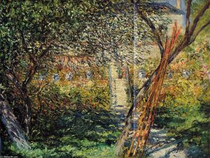 Claude Monet - Monet's Garden at Vetheuil