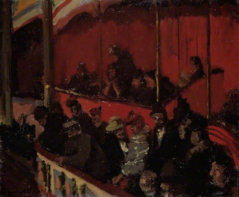 famous painting The Montmartre Theatre of Walter Richard Sickert