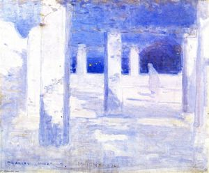 Charles Edward Conder - Moonlight at Mustapha