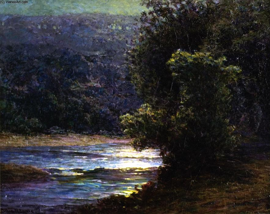 famous painting Moonlight on the Whitewater of John Ottis Adams