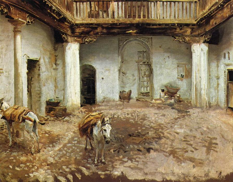 famous painting Moorish Courtyard of John Singer Sargent
