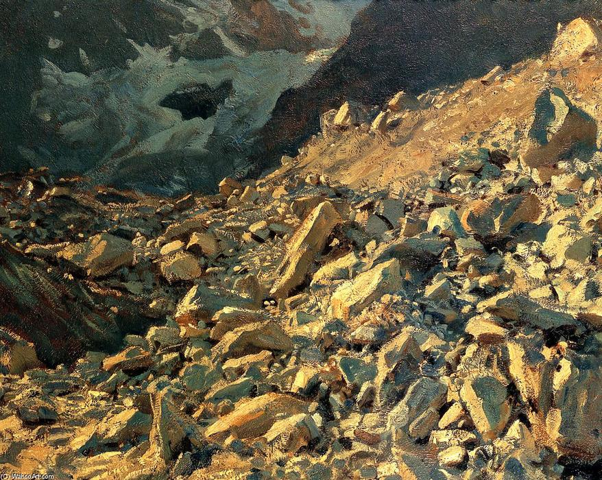famous painting Moraine of John Singer Sargent