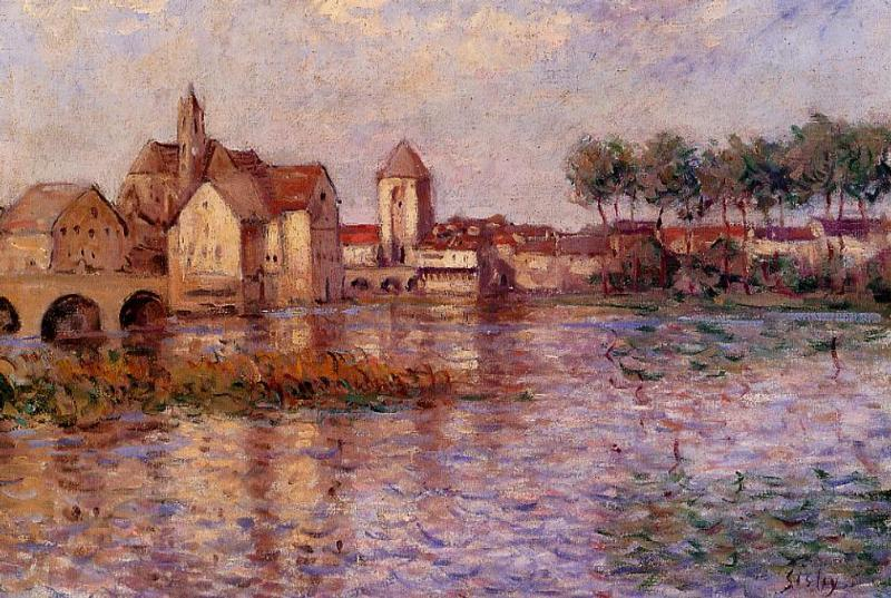 famous painting Moret sur Loing of Alfred Sisley