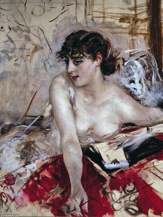 famous painting Morning letter of Giovanni Boldini