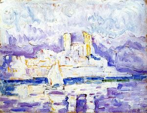 Paul Signac - Morning Mist, Antibes