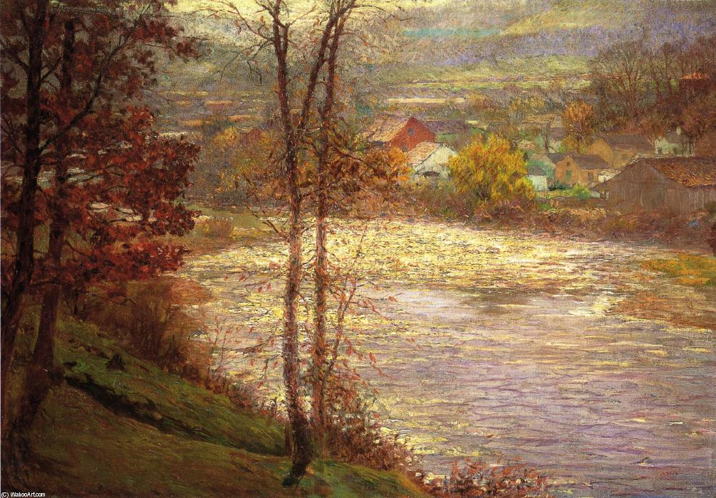 famous painting Morning on the Whitewater, Brookille, Indiana of John Ottis Adams