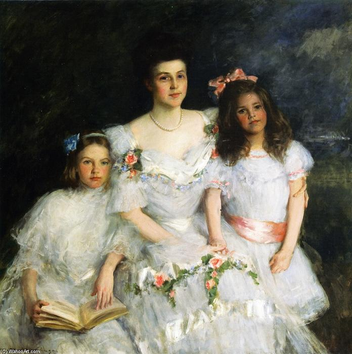 famous painting The Mother (also known as Mrs. Gustavas Cook, Lavinia Cook, Nancy Cook) of William Merritt Chase