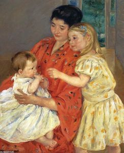 Mary Stevenson Cassatt - Mother and Sara Admiring the Baby