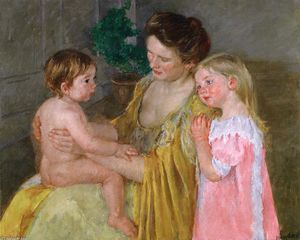 Mary Stevenson Cassatt - Mother and Two Children