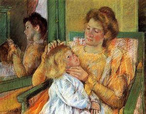 Mary Stevenson Cassatt - Mother Combing Her Child's Hair