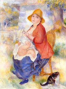Pierre-Auguste Renoir - 'Motherhood (also known as Woman Breast Feeding Her Child)'