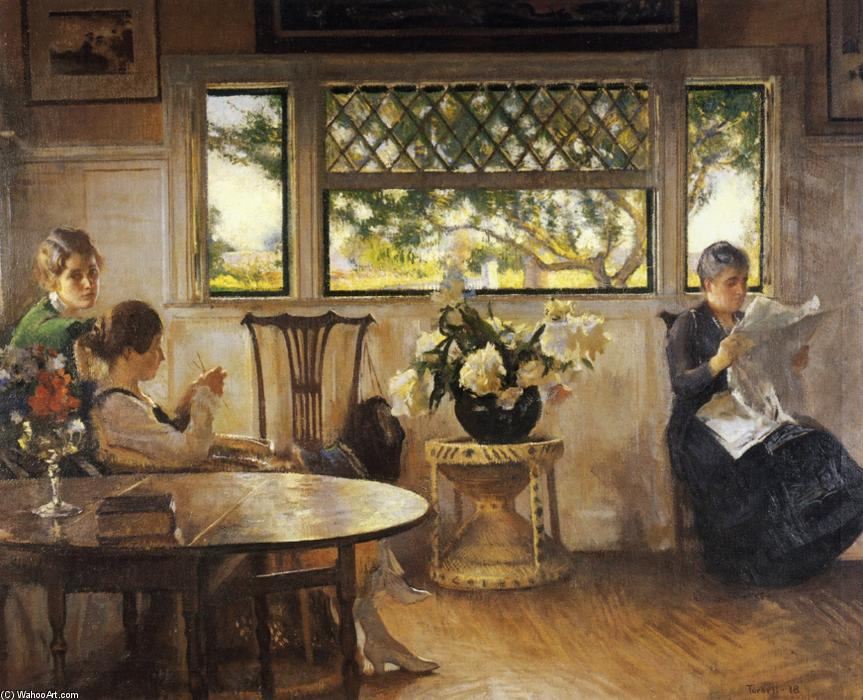 famous painting Mother, Mercie, and Mary of Edmund Charles Tarbell