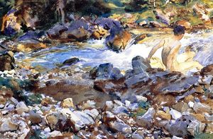 John Singer Sargent - Mountain Stream