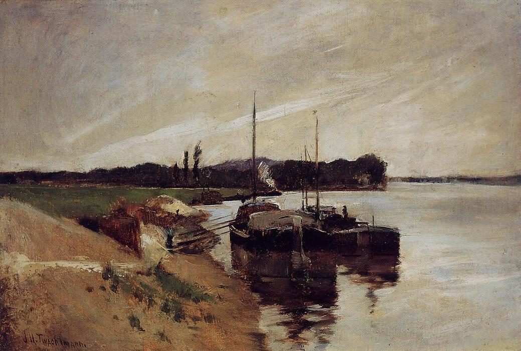 famous painting Mouth of the Seine of John Henry Twachtman