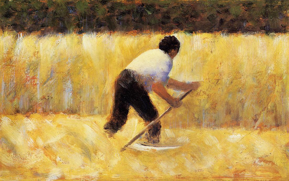 famous painting The Mower of Georges Pierre Seurat