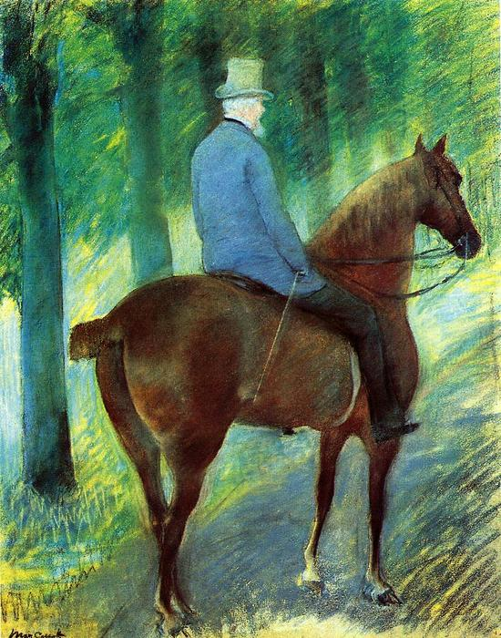 famous painting Mr. Robert S. Cassatt on Horseback of Mary Stevenson Cassatt