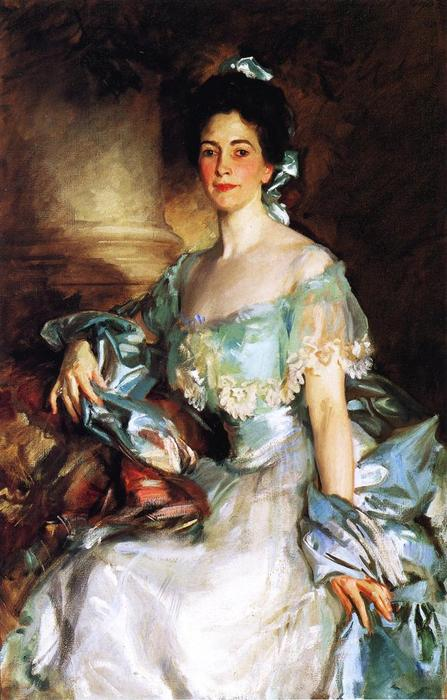 famous painting Mrs. Abbott Lawrence Rotch of John Singer Sargent