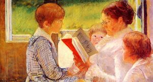 Mary Stevenson Cassatt - Mrs Cassatt Reading to her Grandchildren