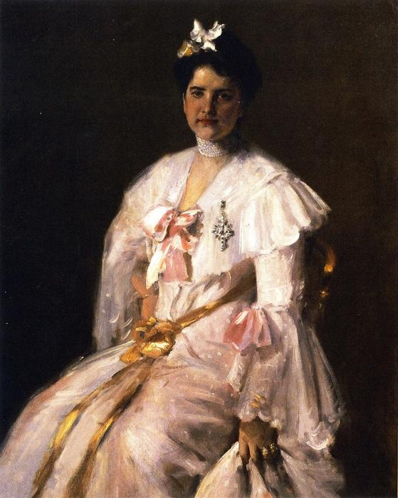 famous painting Mrs. Chase (also known as Portrait of Mrs. Chase, Portrait of Mrs. C.) of William Merritt Chase