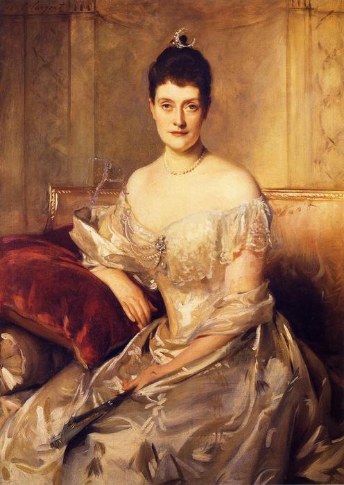 famous painting Mrs. Mahlon Day Sands (Mary Hartpeace) of John Singer Sargent