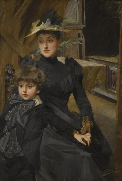 famous painting Mrs. Weguelin and her Son of Anders Leonard Zorn