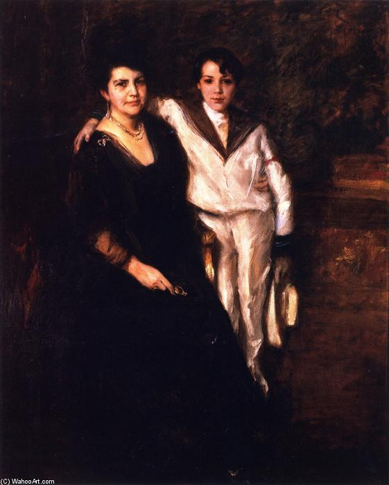 famous painting Mrs. W.M. Chase and R.D. Chase of William Merritt Chase
