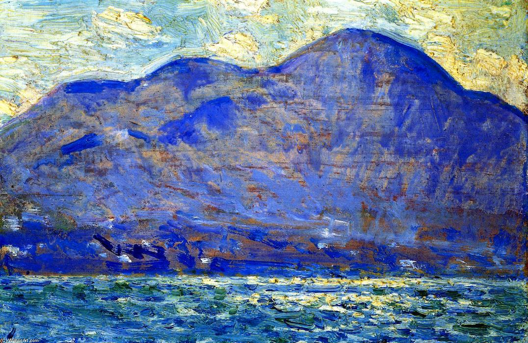 famous painting Mt. Beacon at Newburgh of Frederick Childe Hassam