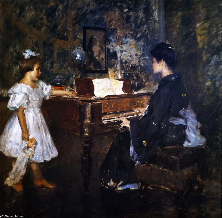 famous painting The Music Lesson (also known as An Interlude) of William Merritt Chase