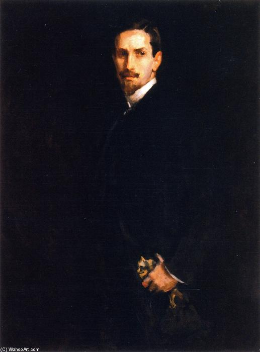 famous painting The Man with the Glove of William Merritt Chase