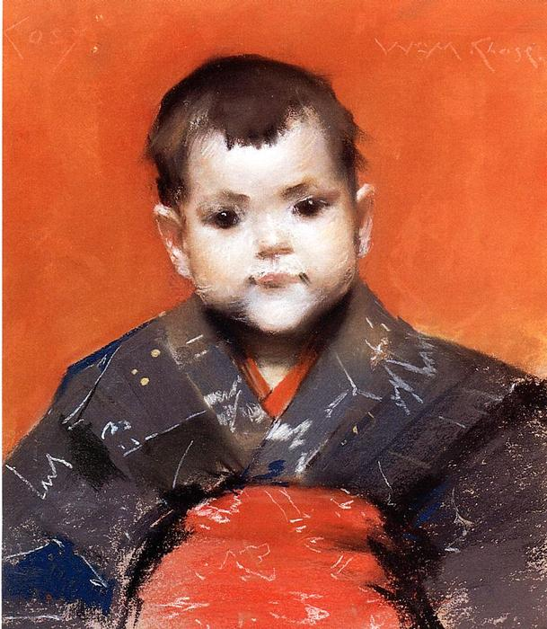 famous painting My Baby (also known as Cosy) of William Merritt Chase