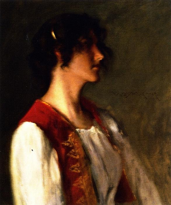 famous painting My Daughter Alice (also known as Artist's Daughter) of William Merritt Chase