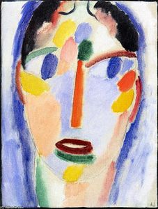 Alexej Georgewitsch Von Jawlensky - Mystical Head: Head in Blue