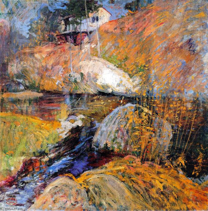 famous painting My Summer Studio of John Henry Twachtman