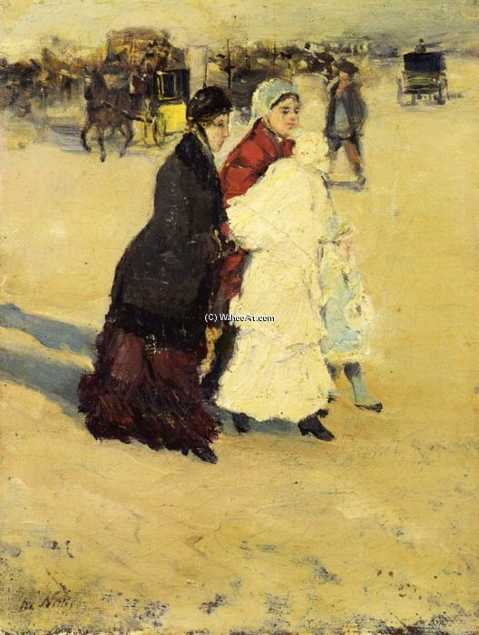 famous painting The Nannys of Giuseppe De Nittis