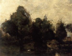 Jean Baptiste Camille Corot - Near Arras, the Banks of the Scarpe