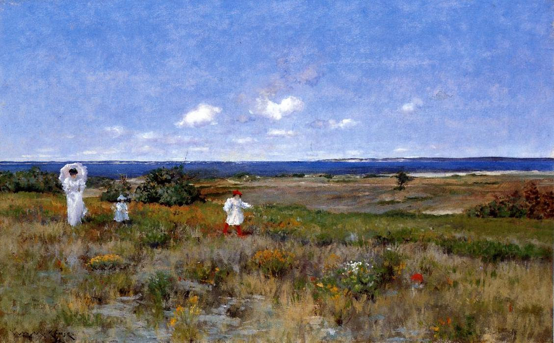 famous painting Near the Beach, Shinnecock of William Merritt Chase
