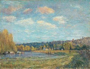 Alfred Sisley - Near the River Seine