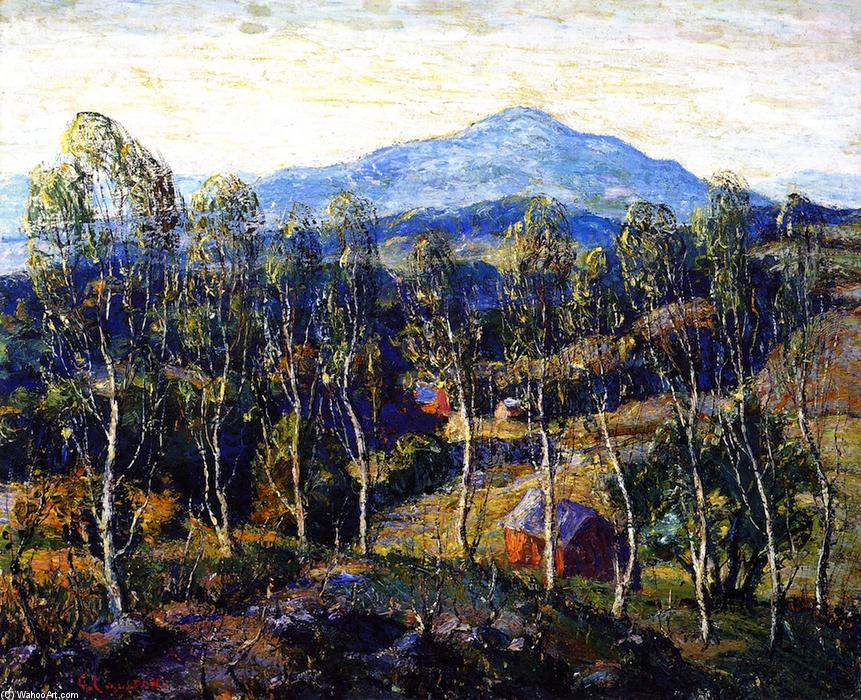 famous painting New England Birches of Ernest Lawson